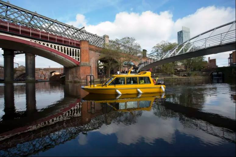WAXI going through Castlefield